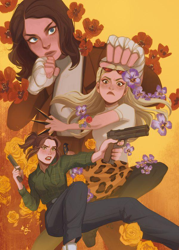 The Deadliest Bouquet 5 x 7 print by Alane Grace